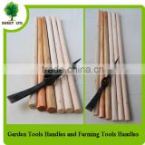 Agricultural tools factory wooden shovel handle brushes handle for farm and garden tools