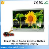 14inch button interface small size color tv prices icon lcd tv