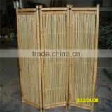 2015 Vietnam Bamboo Folding Screen Room Divider Pine Wood Frame with Bamboo Strips Screen