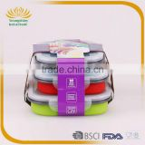 Silicone collapsible biodegradable lunch box