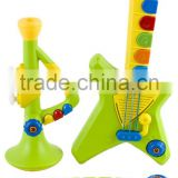 High Quality Kids Full Band Electronic Toy Musical Instruments with Colorful Lights, Piano Keyboard, Guitar, Trumpet