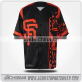 custom design baseball jersey with your logo & name