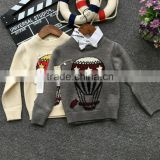 3-9years baby kids cashmere balloon patchwork pattern sweater