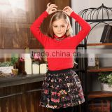 S32484W Baby Girls Sweater Autumn Cottons Sweater Knitted Pullover Warm Turtleneck Sweater