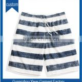 Polyester sublimation striped print beach shorts swim trunk for men
