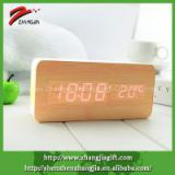 Promo Gift Clock,Wooden Digital Clock,Table Wood Clock