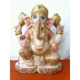 GANESHA GANESH STATUE HANDMADE POLY MARBLE HOME DECOR ART BEST GIFT