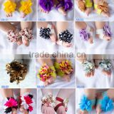 Wholesale Beauty Elastic Barefoot Sandals For Infant Babies Cute Baby Sandals Toddler Flower Shoes