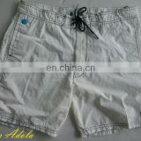 Men's swim suit White polyester Beach shorts trunk boardshort swimwear