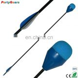 Traditional Round Sponge Foam Arrow Tip with Fiberglass Arrow Shafts