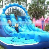 inflatable pool slide, water wave slide, giant water slide WS009