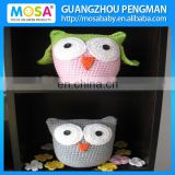 Handmade Lovely OWL Stuffed Baby Toy , Crochet Animal Doll