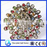 Cute curtain magnetic clips ,curtain buckles with golden Peacock for curtain mosquito net