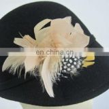 ladies 100% wool felt hat