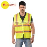 new design reflex yellow pocket safety vest working clothes