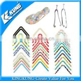 New design PVC plastic super clear decorative film for PVC V strap 2014