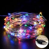 USB LED String Copper wire 10M 100LEDs Wedding Party Holiday Christmas Decoration LED Fairy String Light