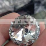 Custom Faction Decorative Crystal Glass Diamond Silver Metal Brass Or Iron Shank Button For Jacket