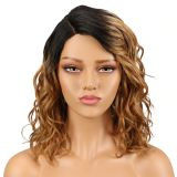 Human Hair Wigs Water Wave Wig Part Lace Short Human Hair Wigs For Black Women Ombre Blonde Blue Cheap wig