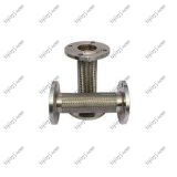 DN40 stainless steel 304 flange connection high pressure metal braided hose used in industry