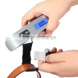 Backlight LCD Display Luggage Scale 110lb/50kg Electronic Balance Digital Postal Luggage Hanging Scale with Rubber Paint Handle,