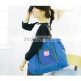 ladies shoulder bags New Fashion Foldable Shopping Bag Street Shopper Bags Multifunctional Shoulder Bag