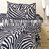 4PCS Solid Microfiber Zebra Stripe Bed Sheet in a Secondhand Price,Cheap as Used Bed Sheets from Chinese Suppliers