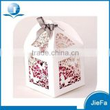 White Color Of Butterfly Paper Candy Box