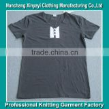 men's 100% polyester v neck t-shirt garment t-shirt/V neck T-shirt factory/Garment T-shirt manufacturer