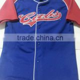 Wholesale custom sublimated cubs baseball jersey