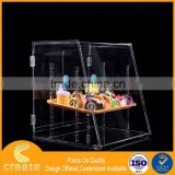 2016 New hot selling acrylic cake display cabinet case with flexible shelves