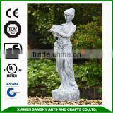 garden ornaments fiberglass african lady fountain