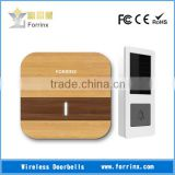 FORRINX Wood Transfer Plug-and-play Battery-free Wireless Doorbell Cool High Quality Self-powered Solar Energy Push Button Chime