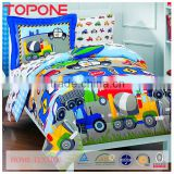 Modern design colorful printed children bedding sets cotton quilted