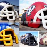 good quality water proof pvc inflatable football helmet tunnel