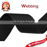 Black Nylon Webbing Strap for Fitness Equipment in Plain Weaving Surface                                                                         Quality Choice
