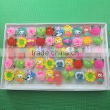 Cute little girl style Summer best selling factory resin led party ring&novelty flash ring