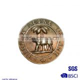 Promotional metal novelty coin Stamping imitation gold map of the world badge gold-plated metal coin