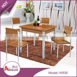 2015 dining room furniture custom dinner table cheap modern square walnut wood dining table sets with 4 chairs                                                                         Quality Choice
