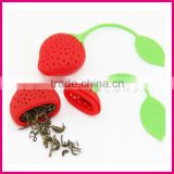 tea balls Factory wholesale High Quality Color Silicone Strawberry silicone tea strainers
