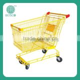 Types of fashion trolley cart supermarket wholesale price cheap