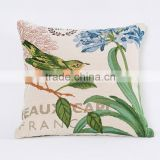 PLUS Bird Printed Pillow Cover Home Sofa Decorative Cushion Cover Chair Seat Pillow Case