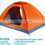2-3 Persons Waterproof polyester with Silver Coating Camping Tent Outdoor Tent Made in China