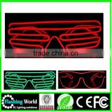 COSPLAY Christmas el wire led shutter glasses
