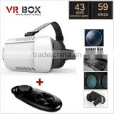 VR BOX II 2.0 3D Glasses Helmet VR Glasses Virtual Reality Headmount + Bluetooth Controller+Wired Selfie Stick+Fish Eye Lens