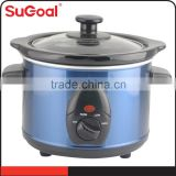 Special Design Blue ceramic inner pot slow cooker