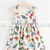children baby girls beach dresses butterfly printed girl party dresses