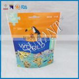 Bird feeding food packaging bag with slide zip lock/high quality printing stand up zipper bag for bird food