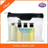 New Design Clear PVC Air Safe Toiletry Kit /Hotel Toothbrush Kit/ Clear Cosmetic Bag