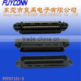 Telco AMP 50 pin Crimping Type IDC Centronics connector Male Plug Type for Telecom Equipment